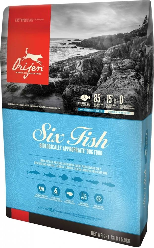 Orijen Dry Dog Food, Six Fish